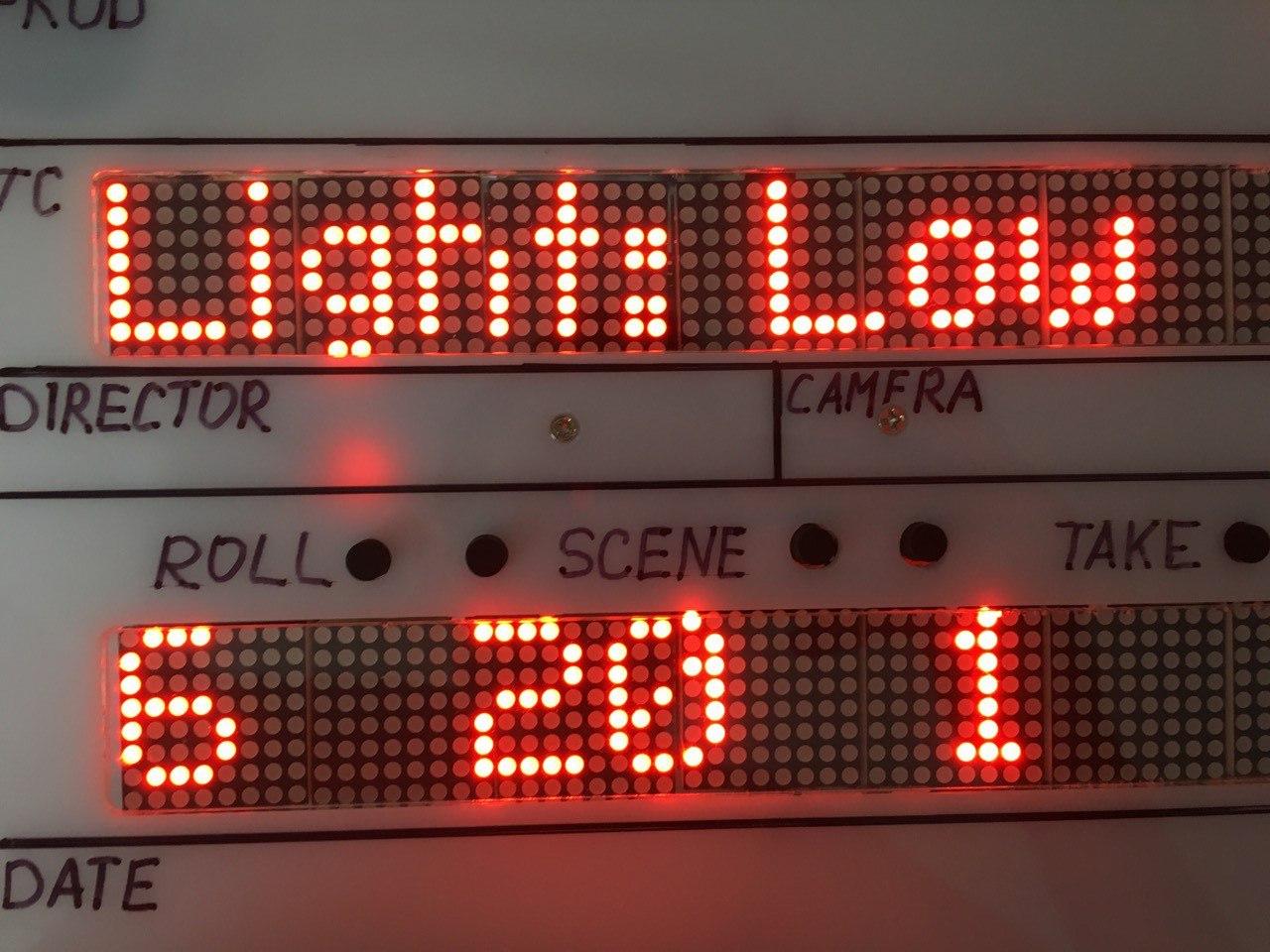 IMSLATE-1 menu light. Меню подсветки