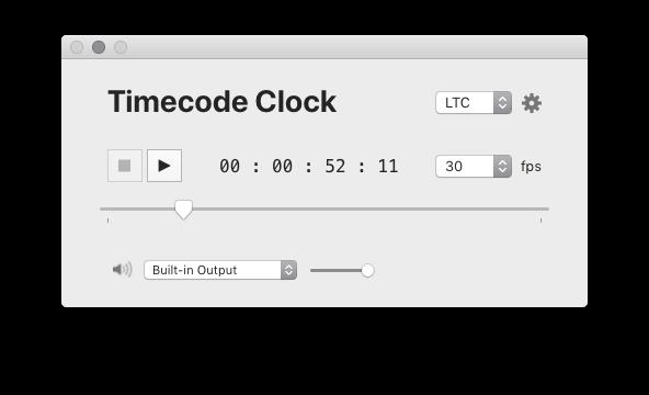 TimeCode generator mac os