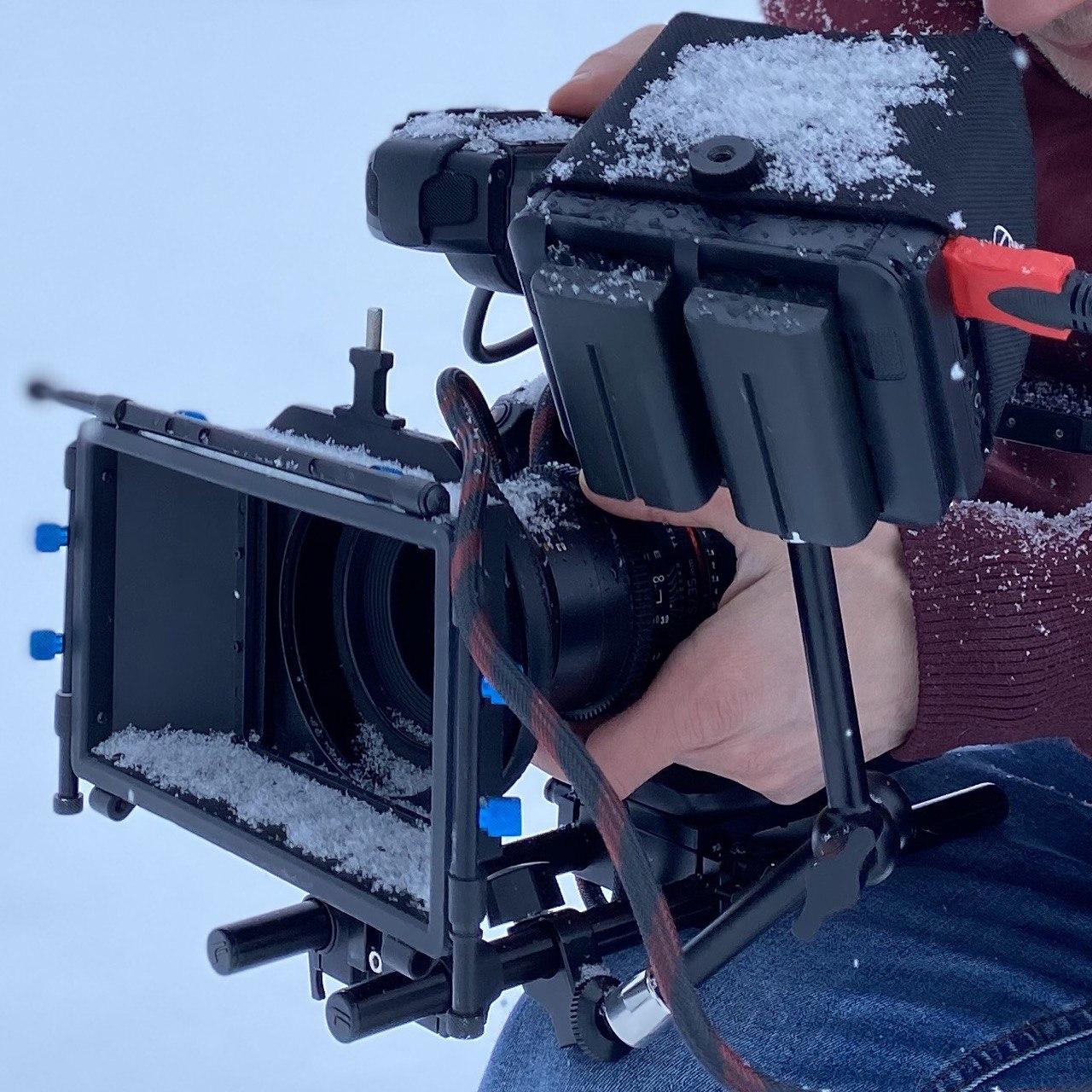 Canon C 100 Snow, съемка в снег